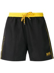 Hugo Boss Logo Swim Shorts Black