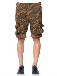 Superdry Camouflage Print Cotton Cargo Shorts