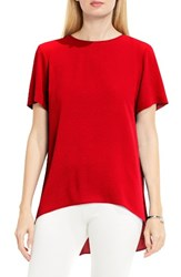 Vince Camuto Women's High Low Blouse Dynamic Red
