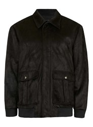 Topman Rogues Of London Black Faux Suede Jacket