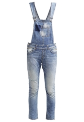 Ltb Carmin Dungarees Moss Blue Destroyed Denim