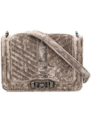 Rebecca Minkoff Small Love Quilted Crossbody Bag Grey