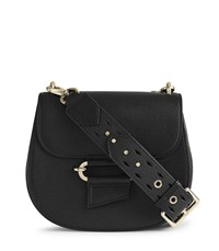 Reiss Maltby Leather Cross Body Bag In Black