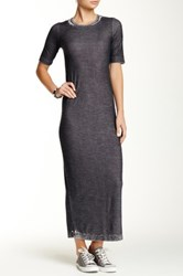 Go Couture Vintage Washed Sweater Dress Black