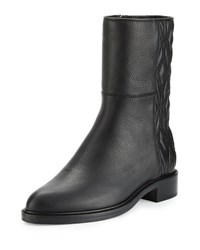 Aquatalia By Marvin K Gabrina Diamond Quilted Leather Boot Black