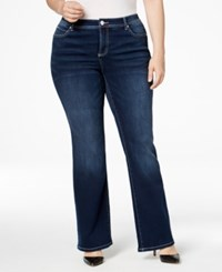 Inc International Concepts Plus Size Slim Tech Bootcut Jeans Only At Macy's Spirit Wash