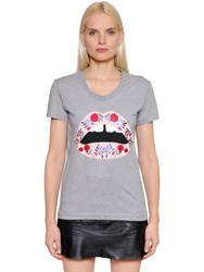 Markus Lupfer Lips Printed Cotton Jersey T Shirt
