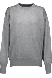 Isabel Marant Fiji Cashmere Silk And Cotton Blend Sweater Gray