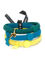Marc By Marc Jacobs Charm Detail Hair Bands Multicolour