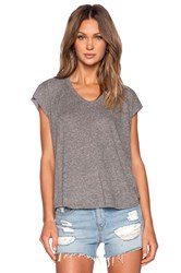 Enza Costa Twist Jersey Sleeveless Cropped V Gray