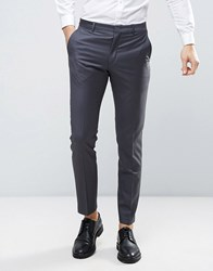 Asos Wedding Slim Suit Pant 100 Wool In Charcoal Gray