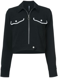 Adam Selman Pearl Trim Jacket Black