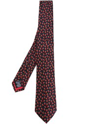 Paul Smith Embroidered Strawberries Tie Black