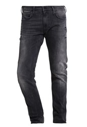 Lee Luke Straight Leg Jeans Black Rip Black Denim