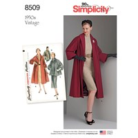 Simplicity 'S Vintage '50S Coat Or Jacket Sewing Pattern 8509
