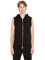 Balmain Hooded Patched Sleeveless Sweatshirt
