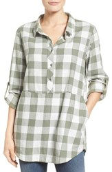 Caslonr Women's Caslon Plaid Cotton Tunic