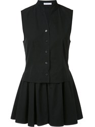 Tome Flared Sleeveless Jacket Black