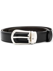 Montblanc Rounded Trapeze Buckle Belt Black