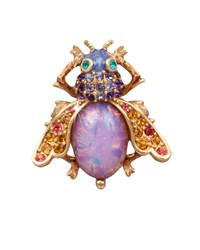 Luz Bejeweled Fly Pin Jay Strongwater Multi Colors