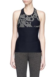 Koral 'Submerge' Camouflage Jacquard Sports Tank Top Black