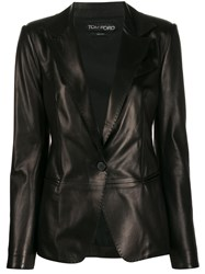 Tom Ford Tailored Leather Blazer 60