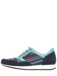 United Nude Nappa Suede And Elastic Running Sneakers Multi
