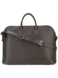Valextra Top Handle Holdall Men Leather One Size Black
