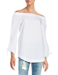 Free People Off The Shoulder Cotton Tunic White