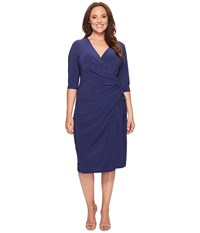 Kiyonna Vixen Cocktail Dress Nouveau Navy Women's Dress Blue
