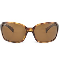 Ray Ban Havana Square Sunglasses In Tortoiseshell With Brown Tinted Lenses Rb4068 61