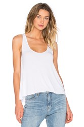 Feel The Piece Sam Scoop Neck Tank White