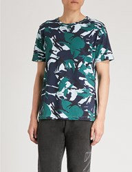 Off White C O Virgil Abloh Camouflage Print Cotton Jersey T Shirt