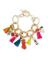 Akola Tassel Statement Chain Bracelet Multi