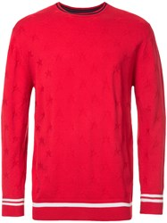 Guild Prime Star Print Sweater Red
