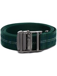 Off White Industrial Jacquard Belt Green