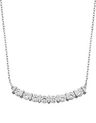 Lord And Taylor Cubic Zirconia Sterling Silver Bar Necklace