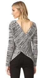 Derek Lam Cross Back Sweater Black Ivory