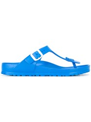 Birkenstock T Bar Sandals Blue