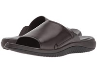 Cole Haan 2.Zerogrand Slide Sandal Dark Roast Leather Black Sandals Brown