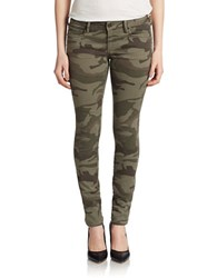 True Religion Casey Low Rise Skinny Jeans Camo Olive Camo