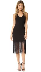 Bb Dakota Jack By Evezen Fringe Dress Black