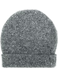 Thom Browne Striped Tweed Jersey Hat Grey