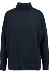 Nlst Oversized Ribbed Knit Sweater Navy