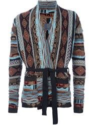 Laneus Patterned Wrap Cardigan Multicolour