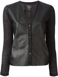 Majestic Filatures V Neck Cardigan Black