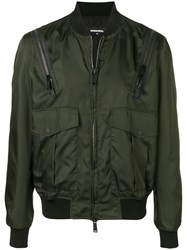 Dsquared2 Zipped Up Bomber Jacket Green