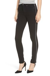 Hudson Jeans Holly High Waist Ankle Skinny Black Lux