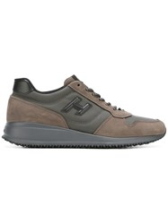 Hogan Lateral Patch Sneakers Brown