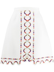Giambattista Valli A Line Cut Out Skirt White